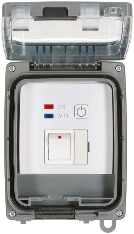 fused switch box timeguard fstwifi fstwifitgv ip66 13a    fused    spur timeswitch  timeguard fstwifi fstwifitgv ip66 13a    fused    spur timeswitch